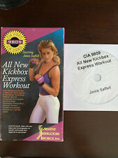 CIA 9809 All New Kickbox Express Janis Saffell VHS & Backup DVD Excellent Cond