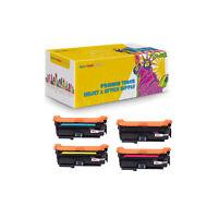 4PK Compatible CE260X + CE261A - CE263A Toner for HP Color LaserJet 4525 4025