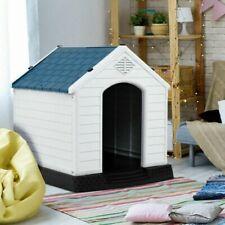 Plastic Dog House Medium-Sized Pet Puppy Shelter Waterproof Ventilate Blue