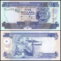 Solomon Islands 5 Dollars, 2012, P-32, UNC, New Signature