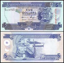 Solomon Islands 5 Dollars, 2012, P-26, UNC