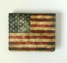 American Flag Wallet Leather Wallet with US Flag Credit Card Holder USA Flag