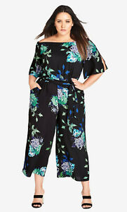 """CITY CHIC, SMALL, FLORAL """"FUJITSU"""" JUMPSUIT"""