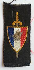Insigne tissu WWII ORIGINAL France 1940 petit modèle pour Béret