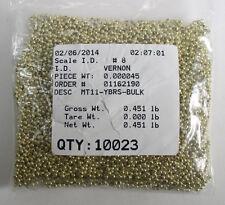 MT11-YBRS 11/0 Yellow Brass Metal Seed Beads Quantity 10,023 Free Ship
