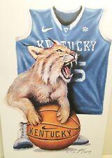 "New ""Kentucky Wildcats"" University of Kentucky Basketball Print, Sig. J Conway"