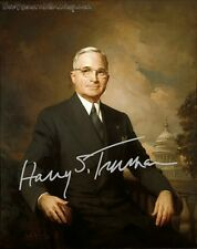 PP Signed LtdEd 10x8 Lab Print - USA President 33 - Harry S. Truman