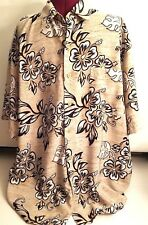 Massini Shirt Size XL Hawaiian Men Short Sleeve Button Front