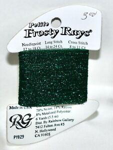 Rainbow Gallery Petite Frosty Rays metal polyester/nylon/rayon 6 yds PY029 green