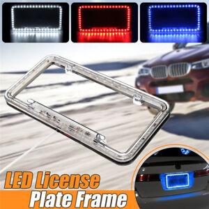Universal 54 LED Car Number License Plate Tag Frame Light Holder Cover 12V White