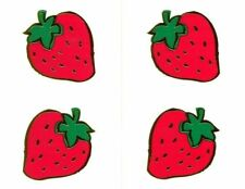 Reflections Strawberry Strawberries Fruit Gold Trim Mrs Grossman Stickers
