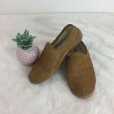 Minnetonka Pile-Lined Romeo Men's Slipper Brown Suede Moccasins Shoes Size 9 M