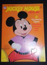 Vintage 1971 Whitman Walt Disney MICKEY MOUSE PRESS-OUT 4 Big Figures Book #1918