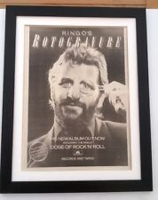 RINGO STARR (Beatles) Rotogravure 1976*ORIGINAL*POSTER*AD*FRAMED*FAST WORLD SHIP