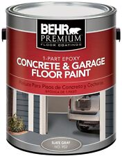 1 Gal. Gray Concrete Garage Floor Paint Epoxy Grey Coating Driveway Basement Can