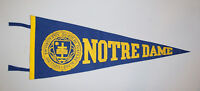 Old Antique Vtg Ca 1940s Notre Dame University Full Size Felt Pennant Very Nice