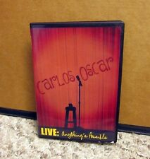 Carlos Oscar live Anything's Possible autograph Dvd stand-up comedy Puerto Rico
