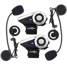 2pcs 1500m Freedconn T-Rex Motorcycle Helmet Bluetooth Intercom 8-Way Interphone