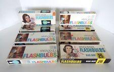 Vintage Sylvania Flashbulbs 8 Boxes Blue Dot Press 25 Clear 25B Blue 96 Flashes