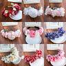 Bride Boho Crown Pearl Lace Flower Bridal Headband Hairband Wedding Hair Garland
