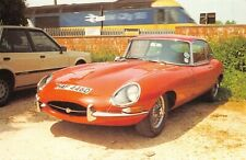 Postcard Jaguar E Type with Inter City 125 Passing at Kitbury Lock Newbury 75M