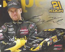 "SIGNED 2009 BLAKE KOCH ""GOD SPEAKS.COM"" NASCAR CAMPING WORLD LATE MODEL POSTCARD"