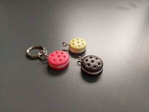 Dog Cat Collar Charm - Cookies - Oreos - Cream Biscuits