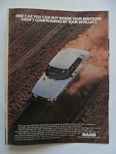 1982 Print Ad SAAB Car Automobile ~ Your Emotions Aren't Compromised