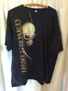 Disturbed Spine Skull 2008 Tour AR-OH concert Black TShirt music metal rock acid