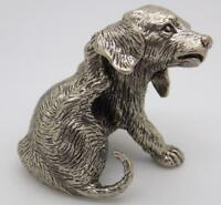 90g/3.1-oz. Vintage Solid Silver Italian Handmade Puppy Dog Statue, Stamped