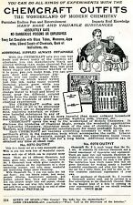 1926 Print Ad of Chemcraft Outfits the wonderland of modern chemistry kits