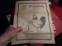 Benjamin Rabier Belle Pub issue de Pays de France Ancien Savon Bagdor