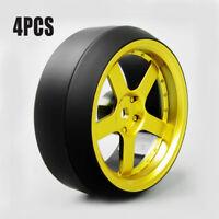 4Pcs Speed Drift 3 Degree Hard Plastic Tire&Wheel Rims D5G For HPI 1:10 RC Car