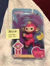 Authentic WowWee Fingerlings Bella Pink Baby Monkey - In Hand - Mint in Box
