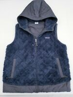 Patagonia Los Gatos Hooded Reversible Vest Charcoal Grey Women's Size Large