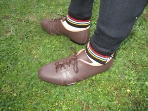 All Leather cycling shoes vintage classic eroica retro style Brown