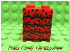 New LEGO Minifigure SKIRT Legs Red Black Lace Ruffle Slope Female Body Part