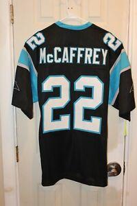 Carolina Panthers Christian McCaffrey (22) 25 Seasons custom stitched jersey XL