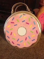 ❤️Betsey Johnson Insulated Lunch Tote Bag Box Donut Gold ❤️