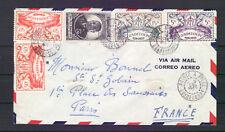 GUADELOUPE ENVELOPPE PHILATELIQUE 1948 BELLES OBLITERATIONS COTE/LETTRE 150