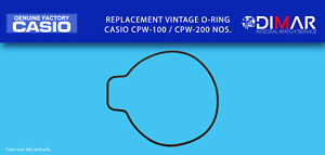 Replacement Casio Gasket / Back Seal Rubber, o-Ring, For CPW-100/CPW-200 NOS