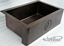 Ariellina State Texas Seal Farmhouse Copper Kitchen Sink Life Warranty AC1825