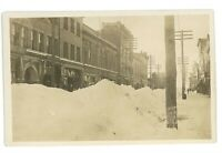 RPPC Blizzard Deep Snow KANE PA McKean County Pennsylvania Real Photo Postcard