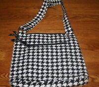 Vera Bradley HIPSTER cross body purse bag shoulder tote adjustable black Retired