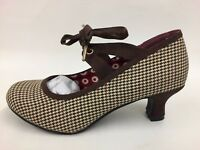 Brand New Ladies Joe Browns Multi Check 1 Eyelet Lace up Court Shoes UK 4s-8s
