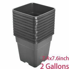 1/2/3/5 Gallon Plastic Grow Pots Plant Bonsai Square Garden Container 10 Pack
