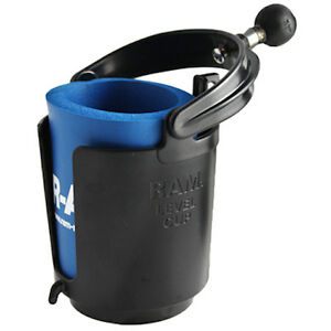 RAM Mount Plastic Self Leveling Cup Holder with 1 inch Ball and Foam Holder