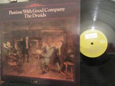 """THE DRUIDS """"Pastime With Good Company"""" Rare UK LP - Argo Records ZFB 39"""