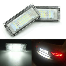 Pair For BMW 3 Series E46 1998-2005 Bright White LED License Plate Light Lamp