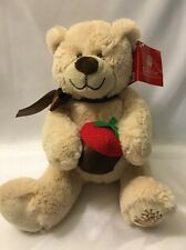 Edible Arrangements BERRY LOVED Teddy Bear Chocolate Strawberry Plush with Tags
